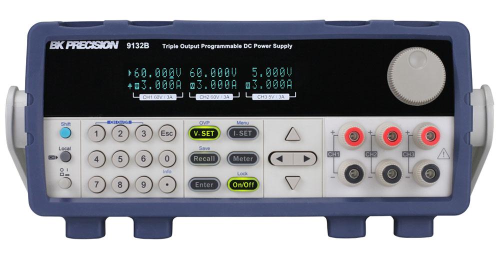 BK Precision 9132B 60V/3A(x2), 5V/3A(x1), 375W Triple Output Programmable  DC Power Supply